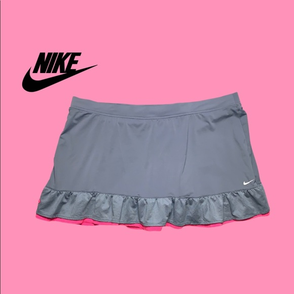 Nike Gray Pink Tennis Skort Skirt Size L